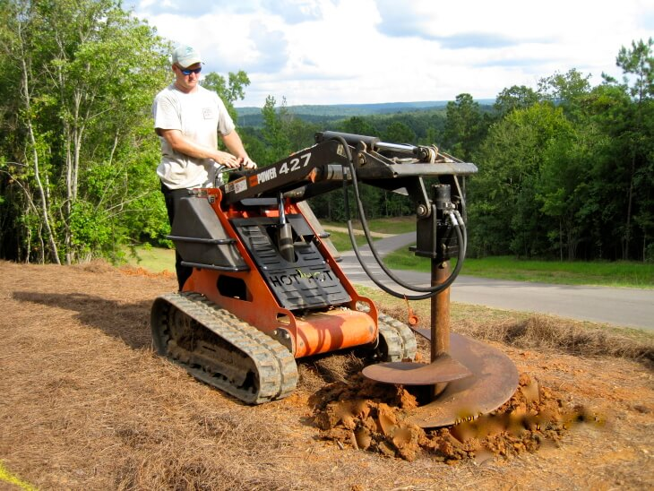 Heavy equipment hole digger