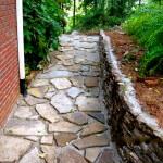 Stone Walkway before concrete