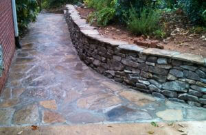 stone wall build in Chelsea Alabama