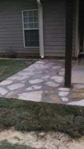 Work done on Stone Patio